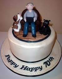 12 Cakes Mens 70th Birthday Photo Man 70th Birthday Cake Man