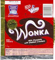 wonka chocolate bar wrapper.  Chocolate Wonka Charlie And The Chocolate Factory Bar Wrapper  By  Gregg_koenig And