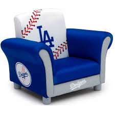 mlb los angeles dodgers kids upholstered chair by delta children com