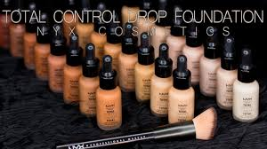 Nyx Foundation Color Chart Total Control Drop Foundation All 24 Shades Nyx Cosmetics