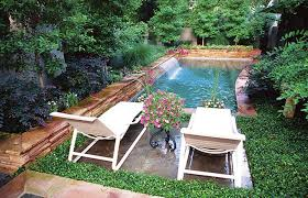 ... Appealing Blue Green Rectangle Modern Grass Diy Backyard Ideas  Decorative Swimming Poll Design: ...
