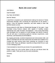 covering letter for bank covering letter for bank bank job cover letter example covering