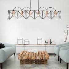 anthea 6 light ceiling pendant in black metal and copper finish