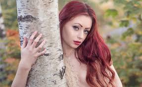 Tapety ženy Venku Ryšavý Portrét Dlouhé Vlasy červené