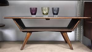 mid century modern old teak coffee table