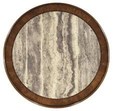 Marble Table Tops Round 5 Piece Round Counter Table Set With Steel Frame Faux Marble