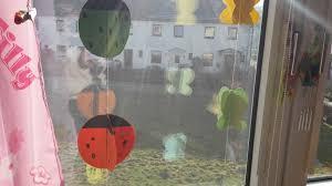 Marienkäfer Und Schmetterlings Fensterdeko Basteln Der