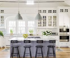 Gorgeous White Kitchens With Coloured Islands The Happy Housie