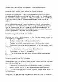 example for narrative essay toreto co how do you write a personal   cover letter for writing sample resume and how do you write a good narrative essay blank