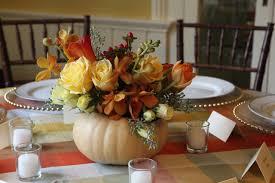 ... Charming Table Decoration Using Cheap Flower Centerpiece : Outstanding  Pumpkin Cheap Flower Centerpiece And Yellow Tartan