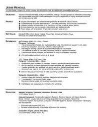 computer technician resume objective resume objective for technician best sample resume computer technician sample resume
