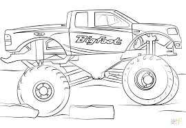 Monster Truck Coloring Pages Online Free Transportation For
