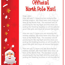 ficial North Pole Mail Letter From Santa Template Free Download