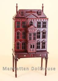 Where to find dollhouse furniture Cardboard Bespaq Pickering Dollhouse In Mahogany Funky Junk Interiors Manhattan Dollhouse Dollhouse Kits Dollhouse Miniatures