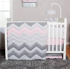 grey star nursery bedding set hot pink