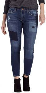 Jag Jeans Size Chart Inches Jag Jeans Womens Mera Skinny Ankle Jean Bucket Blue Laser Patching 8