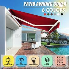 outsunny 4m x 2 5m manual awning canopy
