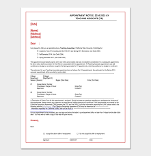 Teacher Appointment Letter 12 Sample Letters Formats