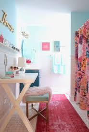 meme hill bathroom teen makeover pink turquoise subway tile glam chic gold delta faucet dryden champagne bronze fau fur rug