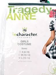 Girls Size L 12 14 Tragedy Anne Halloween Costume Outfit