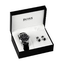 hugo boss watches boss watches uk ernest jones hugo boss men s strap watch cufflink gift set product number 5231329