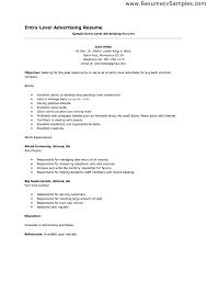 Resume Templates For Entry Level Entry Level Job Resume Templates Resume Template Entry Level Entry