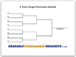 10 Team Single Elimination Bracket 8 Team Single Elimination Seeded Tournament Bracket