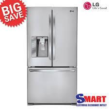 refrigerator refurbished. lg grl730sl 730l 3 door french fridge w/smart diagnosis refurbished unit refrigerator f
