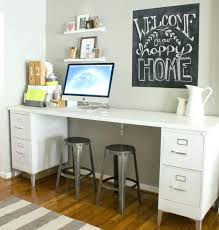 desk cabinet home depot desk height base cabinets metal legs add style to this all white desk cabinet home depot