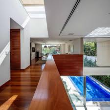 Architecture: Wooden Half Wall In Fantastic With Wooden Floor And ...