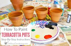 how to paint terracotta pots step by