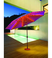 patio umbrellas with lights. Exellent Umbrellas Galtech 986  11 FT Auto Tilt Patio Umbrella W LED Lights Frame Only   Intended Umbrellas With T