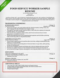 Skills Section For Resumes Food Serviceresume Skills Section Examples Resume Examples