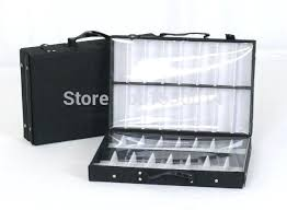 eyeglass frame display cases double tray sample s reps bag storage box suitcase brief case with portable eyeglass display cases