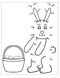 Happy Easter Worksheet for Kids - Preschool and Kindergarten