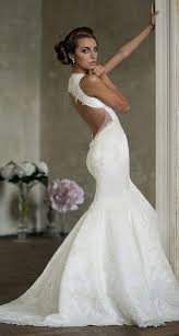 backless mermaid wedding dress form fitting top sexy glamour