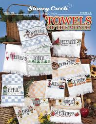 stoney creek towels of the month cross stitch pattern