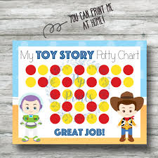 Printable Toy Story Potty Training Chart Instant Download