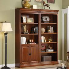 office bookcase with doors. dark brown wooden corner bookcase with doors office f