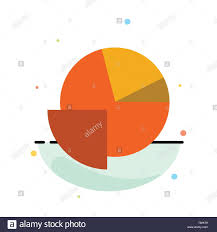 Pie Graph Template Analytics Chart Pie Graph Abstract Flat Color Icon