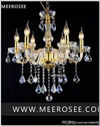 Großhandel Moderne Kristall Kronleuchter Lampe Leuchte Schwarz Champagner Kristall Licht Kerze Glas Kronleuchter Beleuchtung Glanz Wohnzimmer Mds01