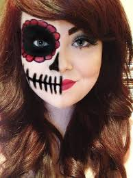 candy skull half face makeup google search you