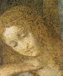 Leonardo da Vinci, Maria Maddalena (particolare dal Cenacolo), 1495-97.   Maria  maddalena, Leonardo da vinci, Ultima cena