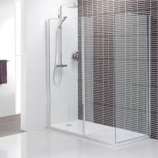 black striped wall tile for minimalist walk in shower ideas using