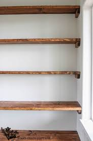 Wood closet shelving Bedroom Diydiningroomopenshelvingbythewoodgraincottage16682x1024 The Home Depot Diy Shelves 18 Diy Shelving Ideas Homegoods Pinterest Open