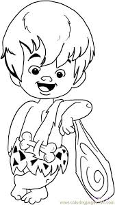 Small Picture Bam Bam Rubble Step 5 Coloring Page Free Fred Flintstone