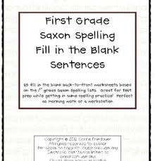 Student workbook, part 1 as want to read Saxon Phonics Spelling Fill In The Blank Sentences 1st Grade Saxon Phonics Phonics First Grade Phonics