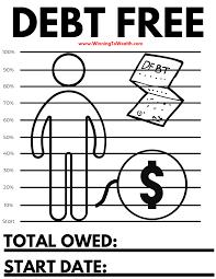 Debt Free Coloring Sheet Winning To Wealth