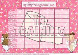 Potty Training Charts For Girls Toilets And Teddies Girls Potty Training Reward Chart
