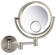 majestic design wall mounted magnifying mirror 15x best interior mount ideas bathroom exciting hardwired lighted makeup